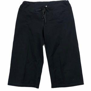 Lululemon Wide Leg Capri Leggings Black size 8